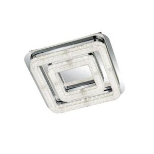 Ambiente deckenleuchte glas metall textil chromfarben for Deckenleuchte ambiente led