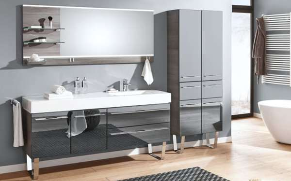 Einrichtung Bad pelipal bad einrichtung leo living bad 109 in graphit glas