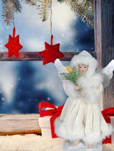 """Näve Winterlicher Engel """"Adnarel"""", h: 20 cm, weiß"""