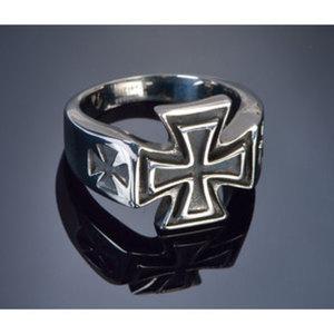 """Finger-Ring """"Iron Cross II""""        Chirurgenstahl, Größe: 19-22mm"""