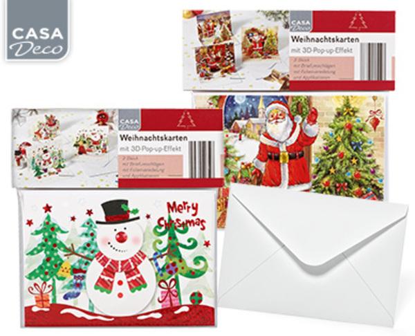 Weihnachtskarten Aldi Süd.Casa Deco Weihnachtskarten 3er Set