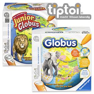 tiptoi Mein interaktiver Junior Globus ab 4 Jahren, tiptoi interaktiver Globus ab 7 Jahren, je