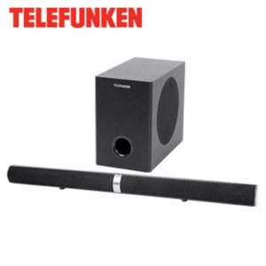 2.1-Bluetooth®-TV-Soundbar mit Funk-Subwoofer SBS100W 80 Watt RMS, Wandmontage möglich, Funk-Subwoofer (nur Stromanschluss nötig), Maße Soundbar: H 8,0 x B 94,5 x T 6,5 cm
