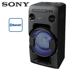 Bluetooth®-Lautsprecher MHC-V11 CD-Player, FM-Radio mit RDS, 470 Watt RMS, Mega-Bass-Funktion, Singlecolor-Beleuchtung, SongPal App, USB-Aufnahme-/NFC-Funktion, 2 Mikrofon-Anschlüsse