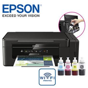 3-in-1-Tintenstrahldrucker  Eco Tank ET-2600 • Farbdrucker, Kopierer, Flachbrettscanner  • kabelloses Drucken über WLAN auch mit mobilen Geräten (Tablet, Smartphone usw.) über Epson iPrint •