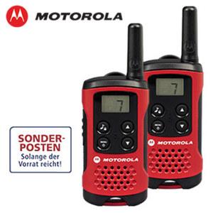 PMR-Funkgeräte TLKR T40 Set mit 2 Stück, anmelde- und gebührenfrei, 8 Kanäle, Suchlauf, Gürtelclips