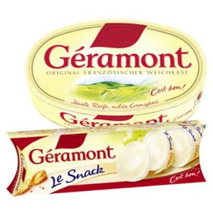 Géramont Französischer Weichkäse 60 % Fett i. Tr., versch. Sorten,   jede 200/180/150-g-Packung und weitere