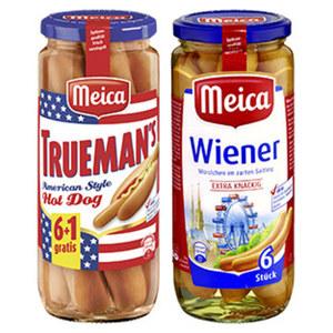 Meica Wiener, Frankfurter Art oder Geflügelwürstchen im Saitling,  jedes 6 Stück = 250-g-Glas/350-g-Glas