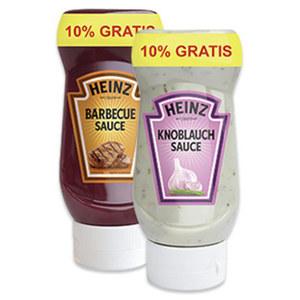 Heinz Feinkostsaucen + 10% gratis versch. Sorten, jede 245-ml-Bonusflasche