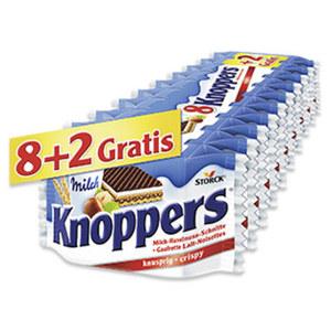 Knoppers 8er + 2 gratis jede 250-g-Packung