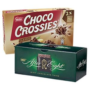 Nestle Choco Crossies 150 g, Choclait Chips 115 g versch. Sorten oder After Eight 200g, jede Packung