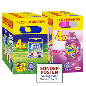Spee oder Weißer Riese Waschmittel Super-Sparpack 4x20=80 Waschladungen, versch. Sorten, jede Packung