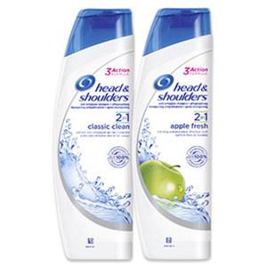 head & shoulders Anti Schuppen Shampoo versch. Sorten, jede 260/300-ml-Flasche