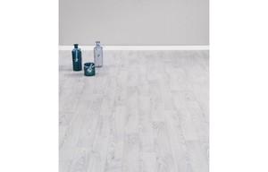 Vinyl-Bodenbelag Eiche weiß