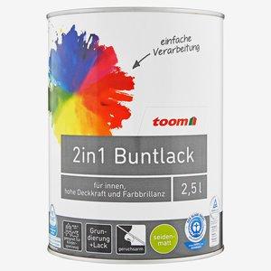 toom - 2in1 Buntlack seidenmatt edelbraun 2500 ml