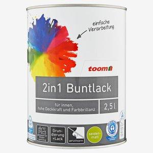 toom - 2in1 Buntlack seidenmatt stadtgeflüstergrau 2500 ml