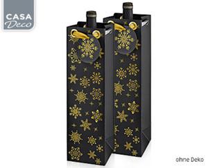 CASA Deco Flaschen-Geschenktaschen, 2er-Set