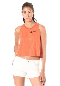 Converse Two Tone Jersey Swing - Top für Damen - Orange