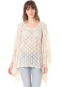 Rich & Royal Knit Poncho - Oberbekleidung für Damen - Weiß