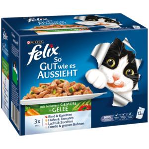 Felix Katzenfutter So gut wie es aussieht mit Gemüse in Gelee 12x100g