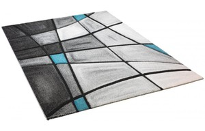 Teppich Brilliance ca. 120 x 170 cm grau-türkis