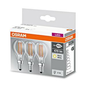 "OSRAM                LED-Leuchtmittel Tropfen ""Base Classic P"", E14, 4 W, 3 Stück"