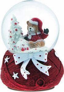 Schneekugel mit Spieluhr Teddybär