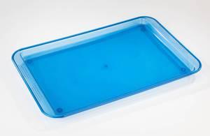 Serviertablett, blau transparent