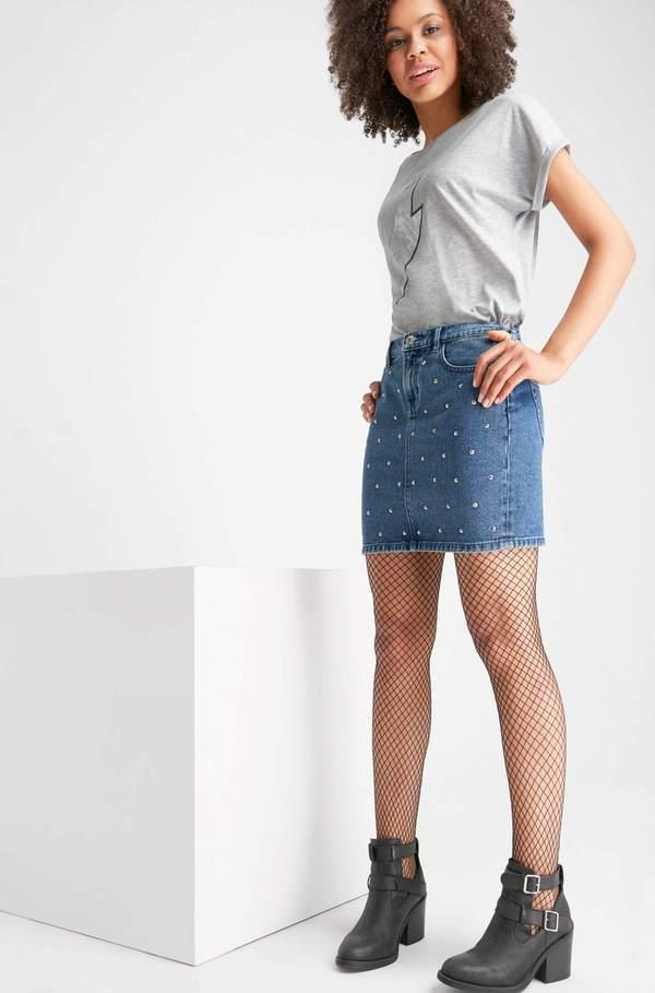 buy online 91d40 5e0c6 Mini-Jeansrock mit Details