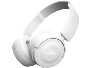 JBL T450BT, On-ear Kopfhörer, Headsetfunktion, Bluetooth, Weiß