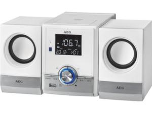 AEG. MC 4461 BT, Bluetooth Musik Center, 11 Watt, Weiß