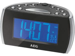 AEG. MRC 4119 P N, Uhrenradio, UKW, Schwarz