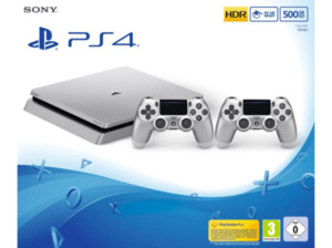 SONY PlayStation 4 500GB Slim Silber