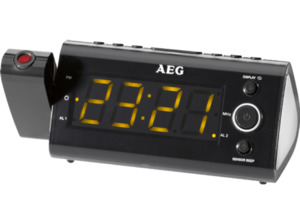 AEG. MRC 4121, Uhrenradio, UKW, MW, Schwarz