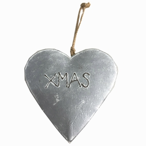 Metallherz XMAS (grau)