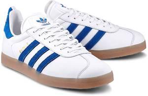Sneaker GAZELLE von Adidas Originals in weiß für Herren. Gr. 42,42 2/3,43 1/3,44,44 2/3,45 1/3,46,47 1/3