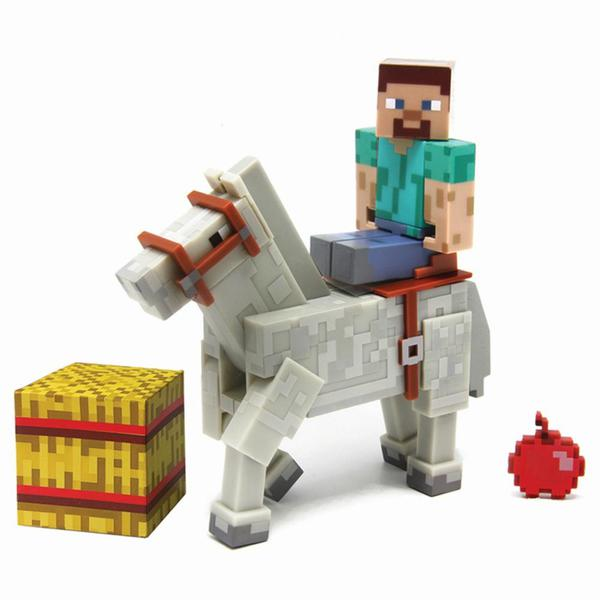 Minecraft Steve Mit Weißem Pferd Von SpieleMax Ansehen DISCOUNTOde - Minecraft spiele mit pferden