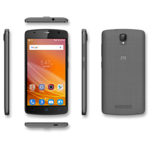 ZTE BLADE L5 Plus Smartphone, 12,7 cm (5') HD-Display, Android 5.1, 8 GB Speicher, Quad-Core-Prozessor, grau