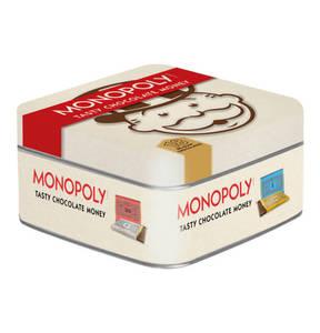 MONOPOLY - Metall Nostalgiedosenausgabe - Schokoladentäfelchen als Spielgeld, 153g