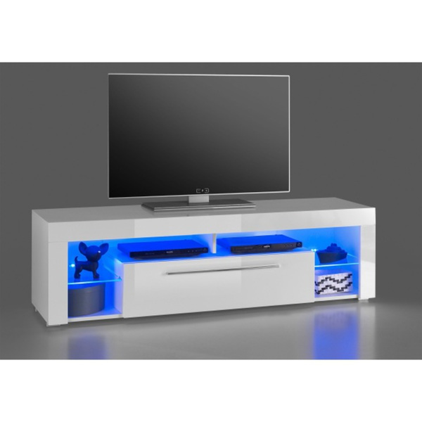 Tv Lowboard Goal Weiss Hochglanz Ca 153 X 44 X 44 Cm Von Mobel Boss