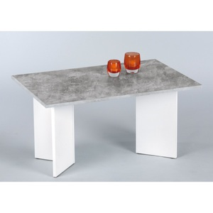 Möbel Boss · Couchtisch Minimal Dekor Beton/Weiß