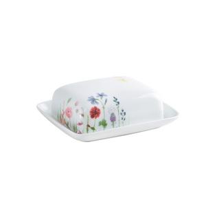 KAHLA Butterdose für 250 g MAGIC GRIP FIVE SENSES WILDBLUME Weiß mit Blumendekor