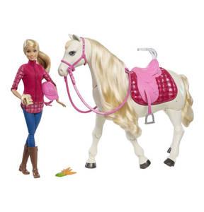 Barbie             Puppe mit Traumpferd