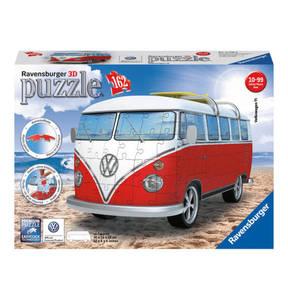"""Ravensburger             3D Puzzle """"Volkswagen T1 - Surfer Edition"""", 162Teile"""