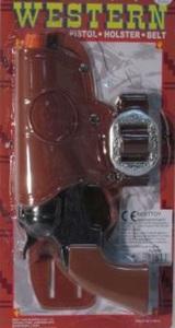 Spielzeug Pistole - Western -mit Gürtelhalter - Besttoy