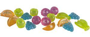 Eiswürfel - aus Kunststoff - Früchte - 18 Stück