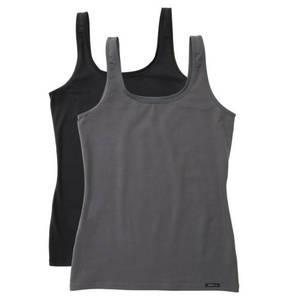 Skiny             Unterhemd, 2er-Pack, uni, elastische Baumwolle