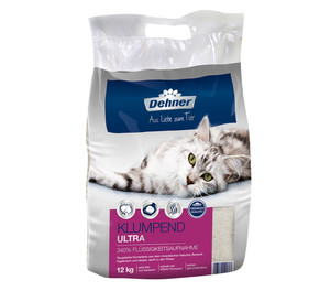 Dehner Premium Klumpend Ultra, Katzenstreu, 12 kg