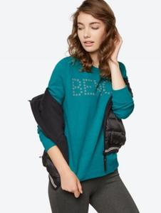Besticktes Sweatshirt mit eingearbeitetem Noppengarn