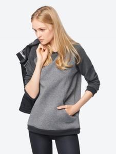 Meliertes Sweatshirt mit Raglan-Ärmeln